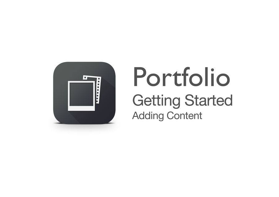 Splash screen from Portfolio's Getting Started video