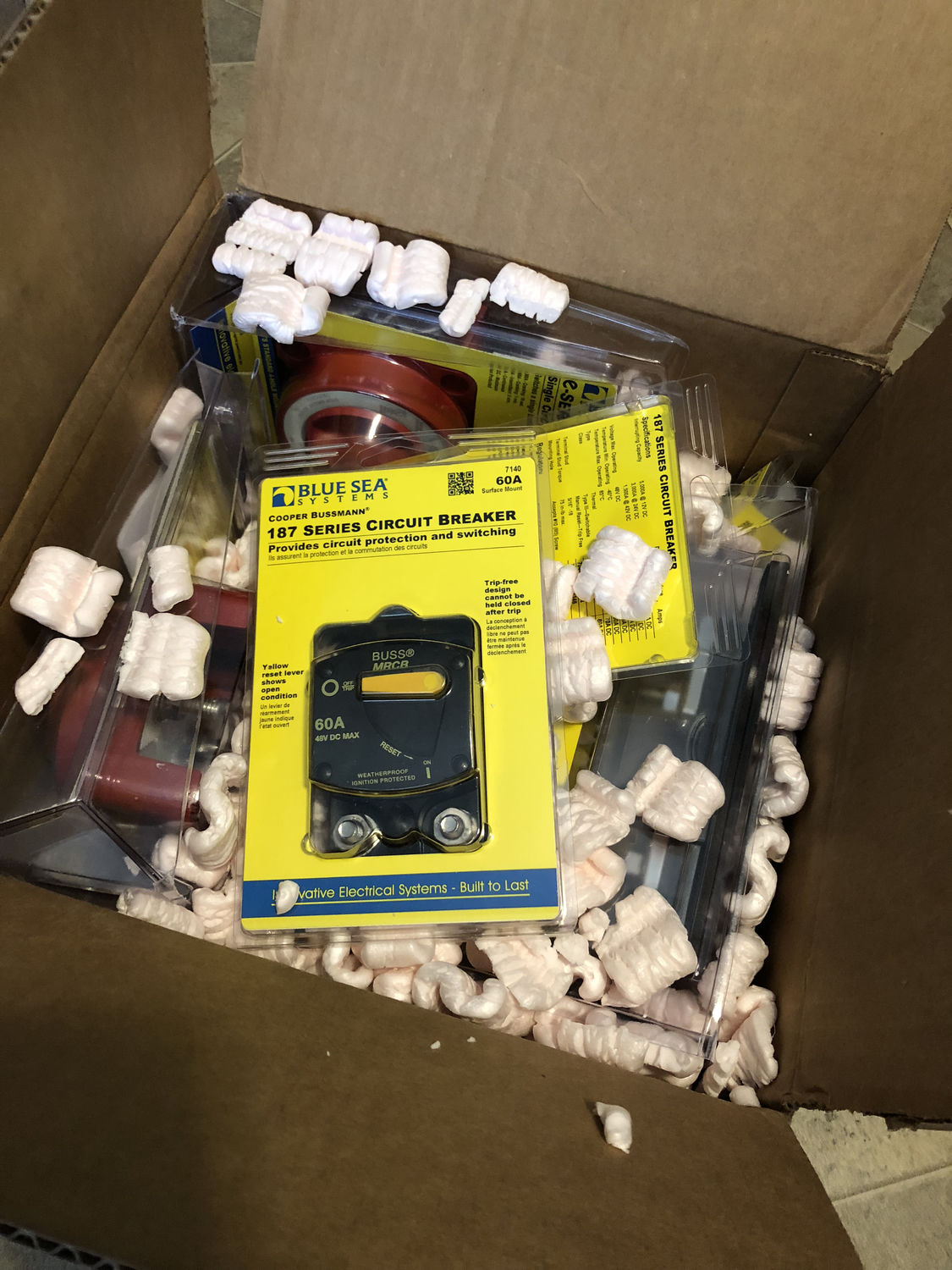 Photo of a box of parts