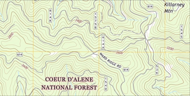 USGS topo map sample image